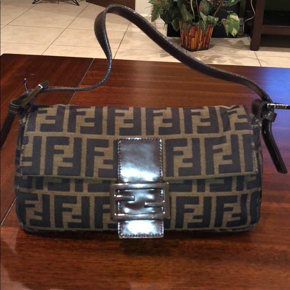 a417f262e0 Fendi Handbags - Fendi Baguette Monogram FF Vintage Zucca